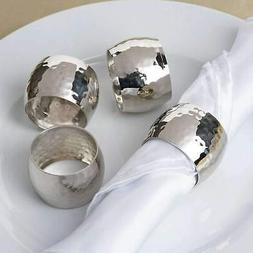4 Pack Hammered Style Napkin Rings WEDDING PARTY BANQUET HOL