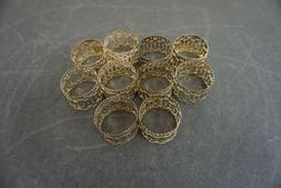 Set of 10 Silver Plated Napkin Rings