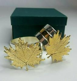 Catalena Creations Symphony of Leaves Gold and Sterling Mapl