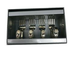 Two's Company Fork Napkin Rings Set of 4 Silverware Holders